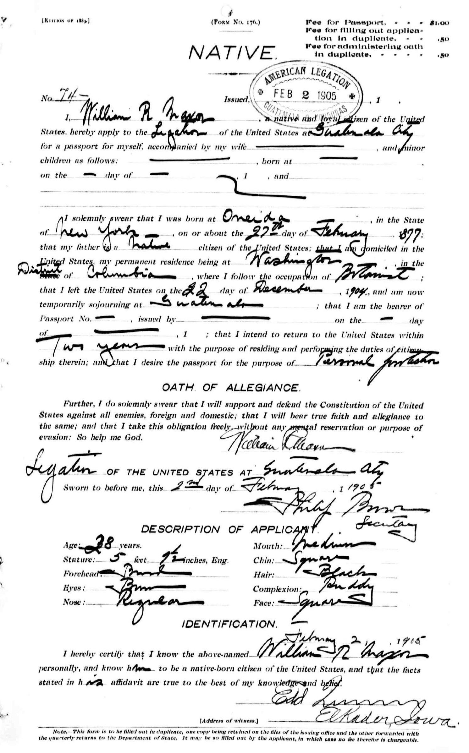 Alma bischoff and robert hay genealogy they left dc on dec 22 1904 but did not apply for passports until feb 2 in guatemala for personal protection but william maxon was staying in xflitez Image collections